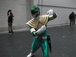 Green Mighty Morphin Power Ranger Cosplayer by Collioni69