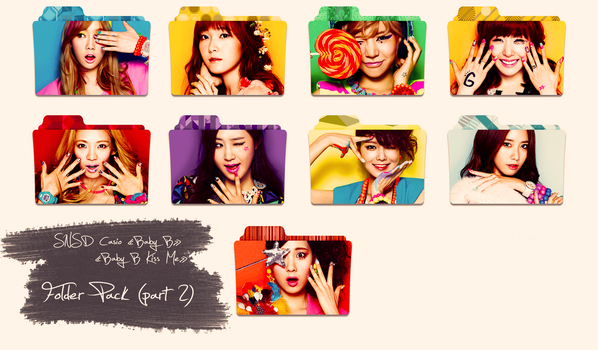 SNSD ~Casio Baby G/Kiss Me~ Folder Pack Part 2 by ShimSungHyo