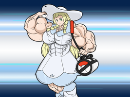 [Art Trade] Lillie has challenged you to a battle! by BadassPlayer