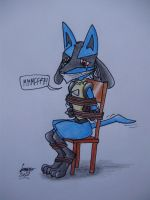 Captured Lucario by Levvvar