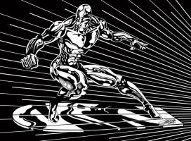 SilverSurfer Lineart by VAXION