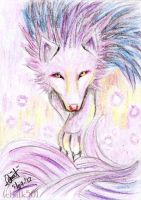 -ACEO- the spirit wolf by silk501