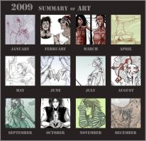 2009 Summary of Art by Creature13