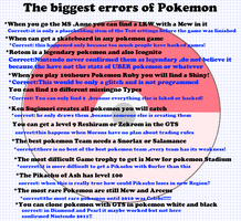 Biggest Errors-Irrtuemer des Pokemon Universe