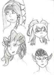 GW2 characters by TammyTwilightRose