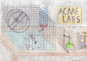 OLD DRAW PINKY in laboratory by marderchen