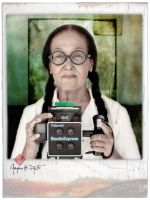 My Mom and Polaroid Cam by djati