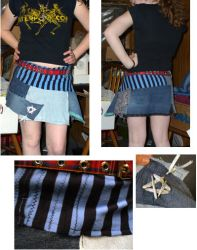 Patchwork skirt by sapphirelotus