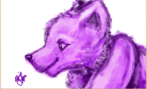 Purple Wolf (Drawn in animal jam) speed paint in d by conwolf