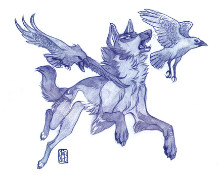 Guided by Ravens by CanisAlbus