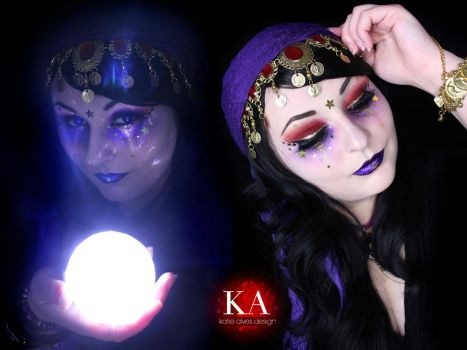 Fortune Teller Halloween Makeup by KatieAlves