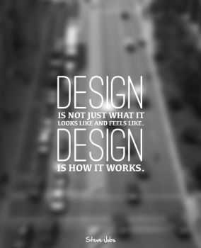 PosterVine Steve Jobs Design Quote Poster by PosterVine