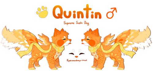 Reference Sheet - Quintin the Supreme Sushi Dog by Mega-Arts