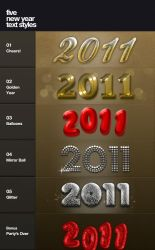Free New Year text styles by chuck-freebies
