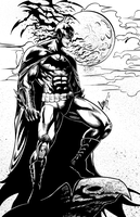 The Dark Knight - Inks by Brianskipper