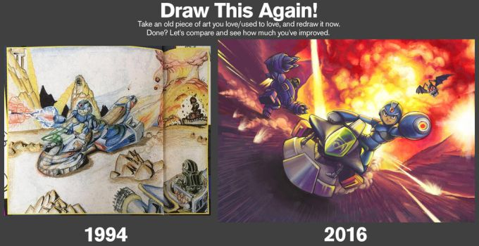 Draw It Again! Megaman X2 by SovanJedi