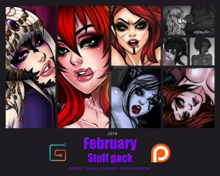 February 2018 Stuff Pack- Gumroad by elwinne