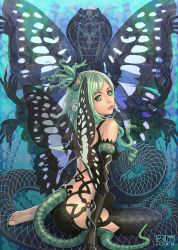 Snake and butterfly by eat01234