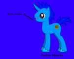 Cookie monster as a pony by FunnyGamer95