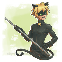 Chat Noir by SilentJ75