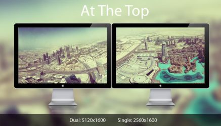 At the Top dual monitor by w3rw01f