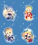 Fate/Grand Order charms by slieni
