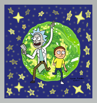 Rick and Morty by FlowerPhantom