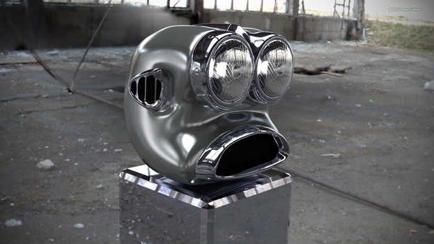 Robot Head based on car by TheBigDaveC
