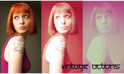 Vintage action set 2 by beckasweird