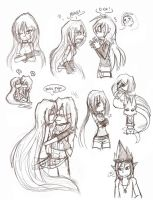 Sketches of Different Shit 8D by DawnValentine101