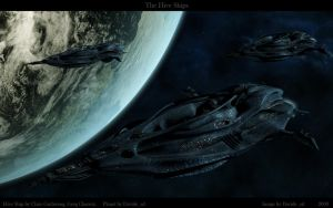 The Hive Ships by Davide-sd