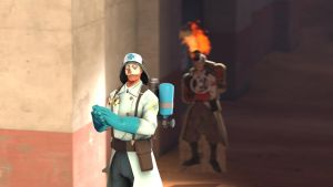 SFM Poster: Happy Medic by Minicheddarsx