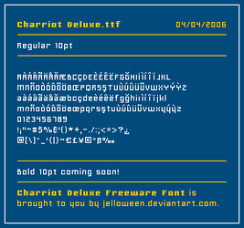 Font: CHARRIOT Deluxe by jelloween