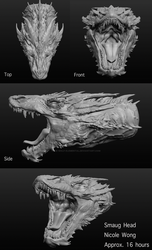 Smaug Head 3D Sculptris by Ice-wolf-elemental