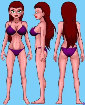 MORGANA MODEL SHEET by lordcoyote