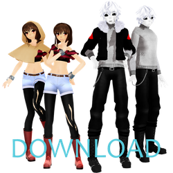 [MMD]Echotale Frisk and G!Sans (Download) by Malilangelo