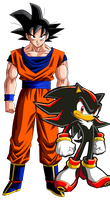 Goku and Shadow-The Ultimate Team by MergedZamasuVA