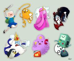 Stickers - Adventure time by oneoftwo