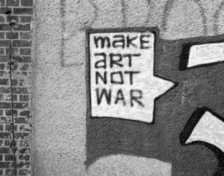 Make Art Not War by positively