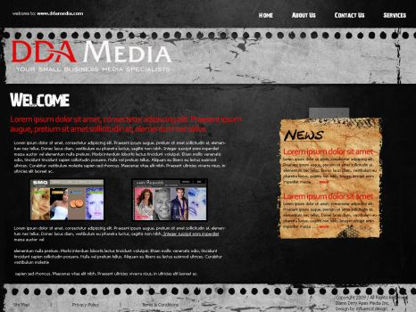 DDA Media Grunge Layout by influenceddesign