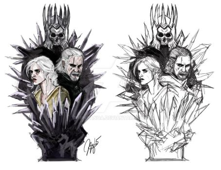 Witcher3 - Fanart Design for new figure! :) by minoanoa
