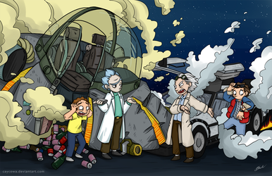Back to the Future - Rick and Morty by caycowa