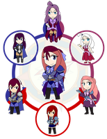 Assorted Chibis - AU Hexafusion 15 by Dragon-FangX