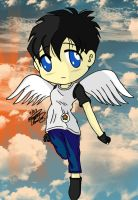 Videl with Wings-Chibi by maakurinohime