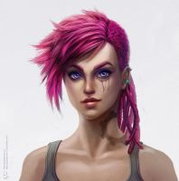 Vi, the Piltover Enforcer by PurpleLemon13