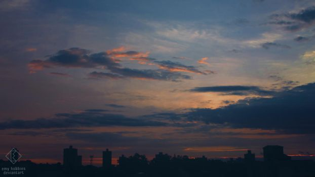 City and Sunset #14 by emy-hobbies