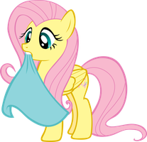 Fluttershy with a blanket by FabulousPony