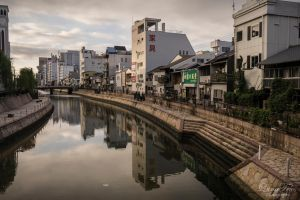 river in Fukuoka by LunaFeles