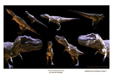 Tyrannosaur 3D Model Textured by Red-Dilopho