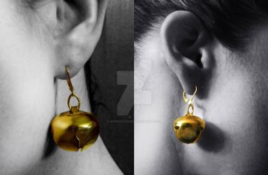 Bombshell Harley Quinn Style Cosplay Bell Earrings by MorganCrone